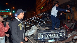 The army said the blast was caused by a car bomb