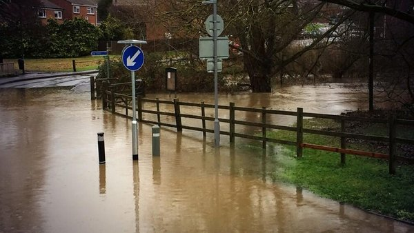 Flooding in Maidstone, Kent this morning
