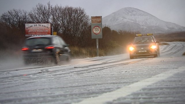 Poor road conditions this morning in northwest Donegal