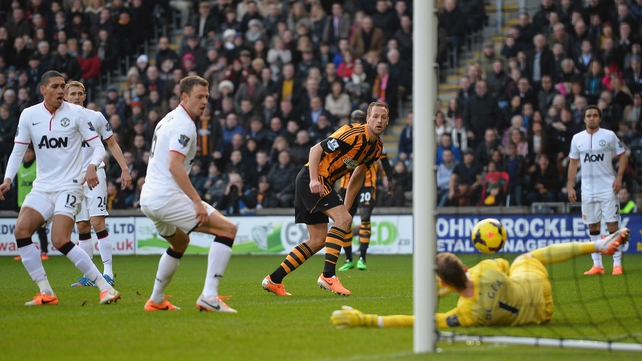 David Meyler scored Hull's second but United rallied to win