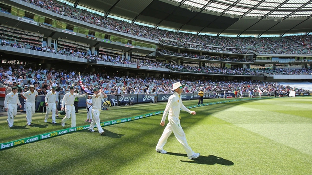 A world record test crowd turned up at the MCG