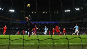 Simon Mignolet fails to deal with Alvaro Negredo's winner for City