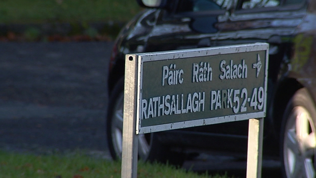 The victim was found with stab injuries at Rathsallagh Park