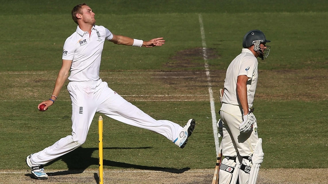 England's Stuart Broad bowled three for 30