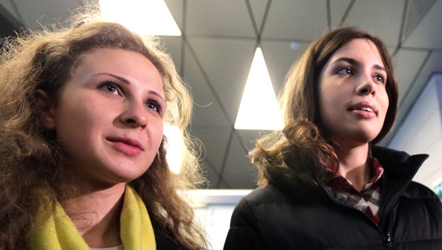 Maria Alyokhina and Nadezhda Tolokonnikova were sentenced to two years in prison for a protest against Vladimir Putin