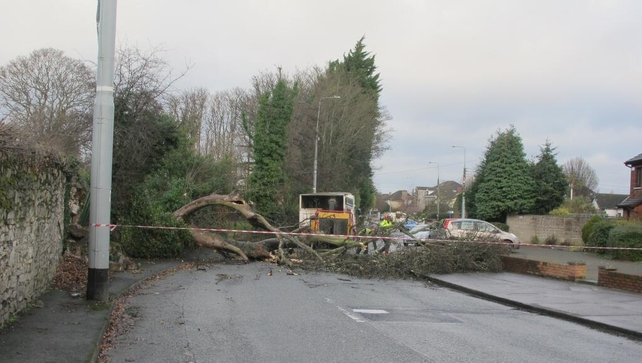 Park Rangers clearing tree from Blackhorse Avenue near the Phoenix Park in Dublin (pic: @GardaTraffic)