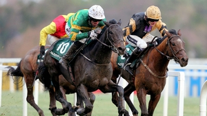 Tony McCoy on board Plinth gets up to beat Ruby Walsh on board Ivan Grozny
