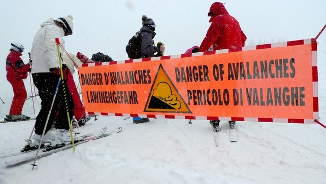 Skiers in the Alps have been warned of the dangers of avalanches
