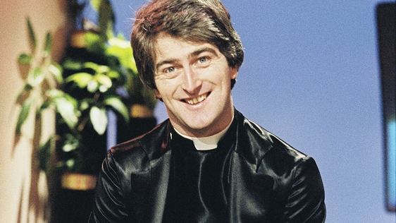 Dermot Morgan as Father Trendy on 'The Live Mike' (1980)