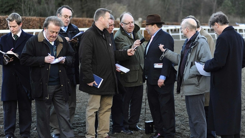 A concerned Nicky Henderson speaking to the press