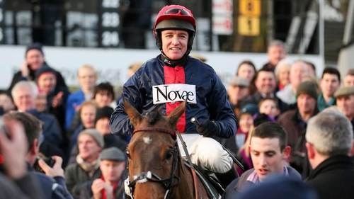 Barry Geraghty and Bobs Worth after victory in the Lexus Chase