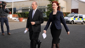 Dr Richard Haass and Prof Meghan O'Sullivan arriving back in Belfast