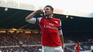 Olivier Giroud said Arsenal's playing philosophy made adapting to face bigger teams difficult