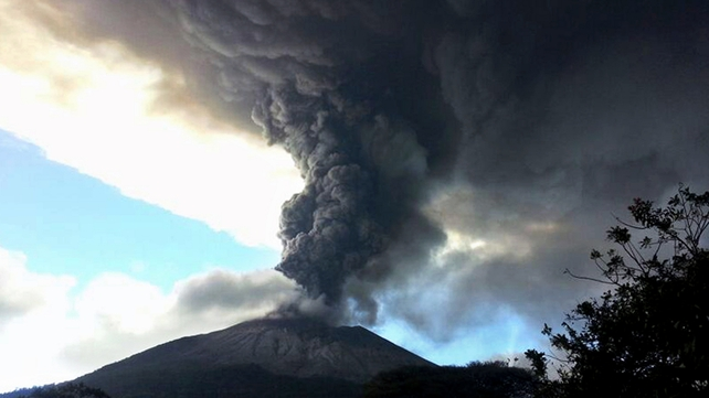 Those living close to the volcano are being evacuated