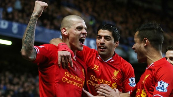 Martin Skrtel was on the mark early on for Liverpool against Chelsea