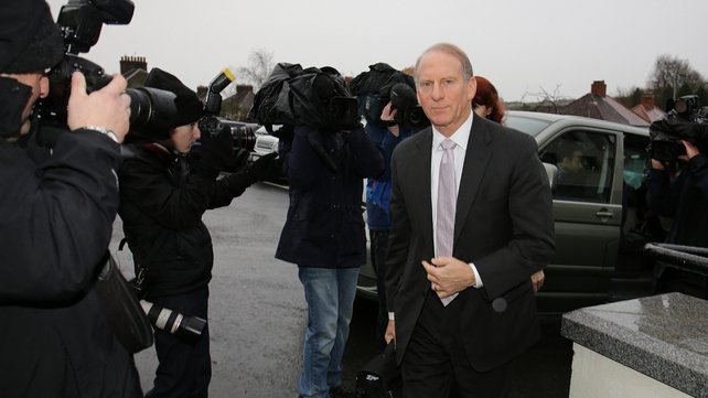Dr Richard Haass arrives at the Stormont Hotel in Belfast for final negotiations