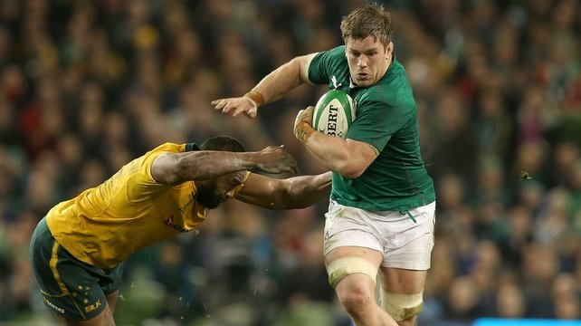 O'Brien in action against Australia in the November Internationals
