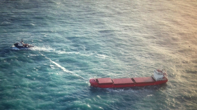 The vessels are expected to dock after midnight (Pic: Irish Coast Guard)