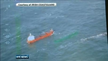 Stranded cargo ship towed towards Cork