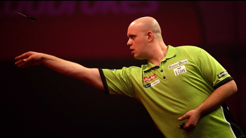 Michael van Gerwen has reached a second consecutive PDC World Championship final