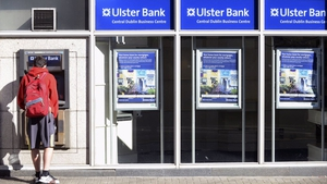 Ulster Bank's operating profit for the three months to March fell to €32m from €78m the same time last year