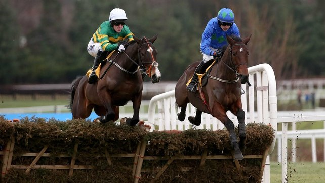 Hurricane Fly beating Jezki in the Ryanair Hurdle