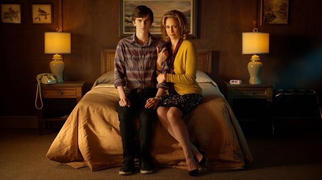 Bates Motel stars Freddie Highmore and the Emmy-nominated Vera Farmiga