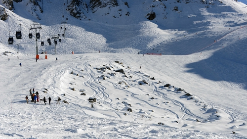 A view of the rocky area between two slopes in Meribel where Michael Schumacher suffered his accident