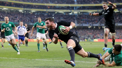 Ryan Crotty crossing for the crucial try in 2014