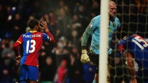 Jason Puncheon celebrates his equaliser from the spot at Selhurst Park