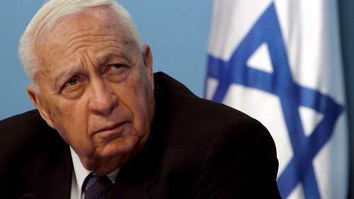 Ariel Sharon pictured in 2005 - he has been comatose since a stroke in 2006