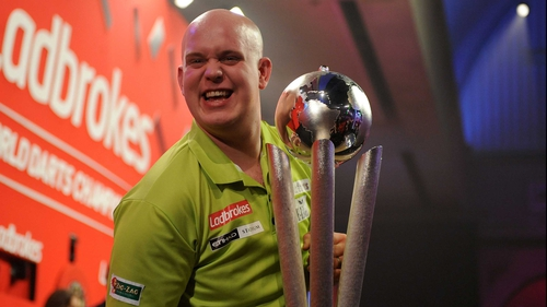 Michael van Gerwen toppled Phil Taylor at the top of the PDC rankings with his world championship win