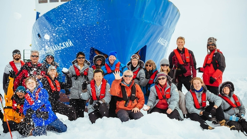 The passengers and crew of the Akademik Shokalskiy had been trapped since Christmas Eve (Pic EPA-Andrew Peacock/Footloosefotography/Spiritofmawson.com)
