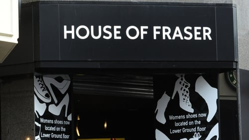 House of Fraser saw online sales increase by 57.7%