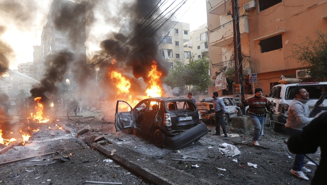 Around 66 people have been injured in the explosion, which is the latest in a series of bombs in the Lebanese capital