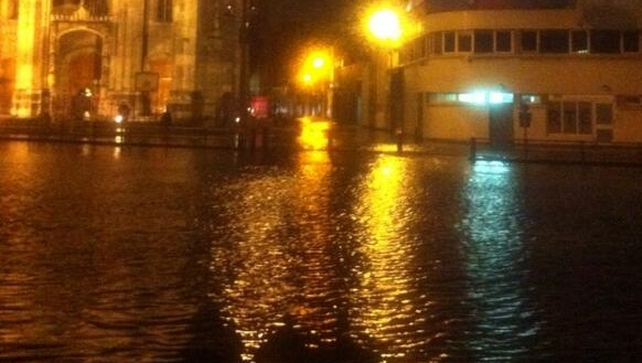 Father Mathew Street was also affected by flooding