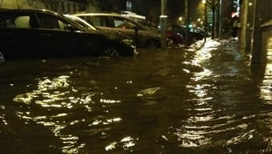 South Mall in Cork city was another area affected by flooding (Pic: Richard Jacob)