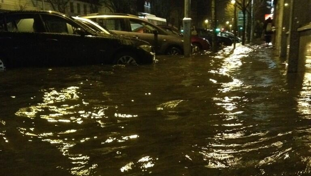 South Mall in Cork city is another of the areas affected by flooding (Picture: Richard Jacob)