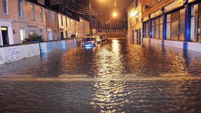 Homes and businesses have been flooded on Sharman Crawford Street (Daragh Mc Sweeney/Provision)