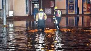 Flooding during high tide in Cork City affected homes and businesses (Daragh Mc Sweeney/Provision)