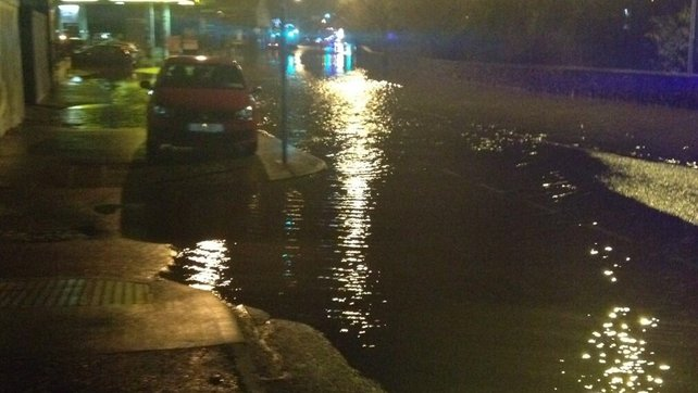 Park Road in Waterford City was flooded following high tide (Picture: Mary Roche)