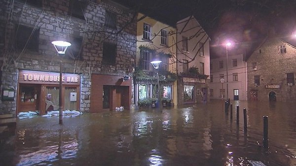 A number of businesses in Flood Street in Galway have been inundated with water