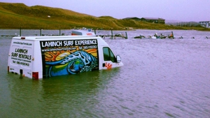 Vehicles flooded at Lahinch, Co Clare
