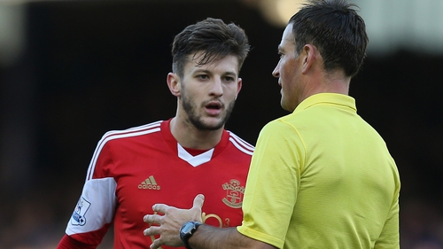 Saints took exception to comments made by referee Mark Clattenburg to Adam Lallana