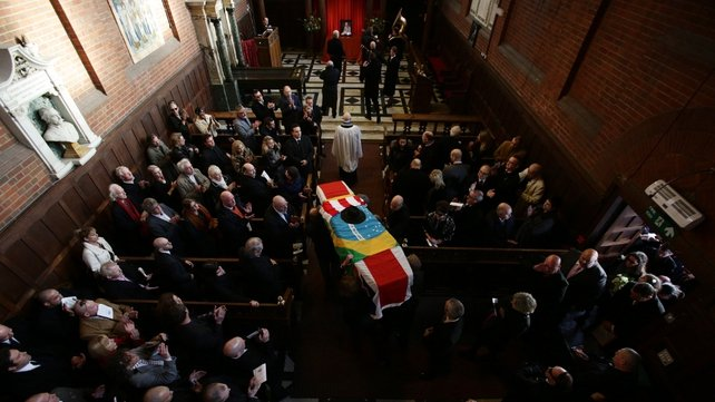 Mourners gathered at Golders Green Crematorium for the service