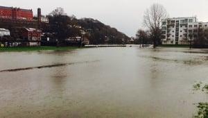 Lee Fields in Co Cork was flooded during high tide (Pic: @randomcorkstuff)