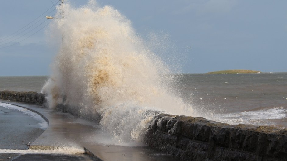 Waves crash against the coast at Skerries (Pic: Anne Carroll)