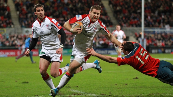 Darren Cave touched down late in the first half for Ulster