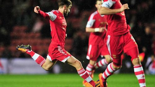 Sothampton's Adam Lallana scored his side's winner against Burnley