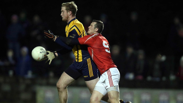 DCU and Louth contested the first match of the new year